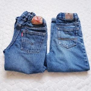 Boys denim jeans adjustable toddler 4T Levi's